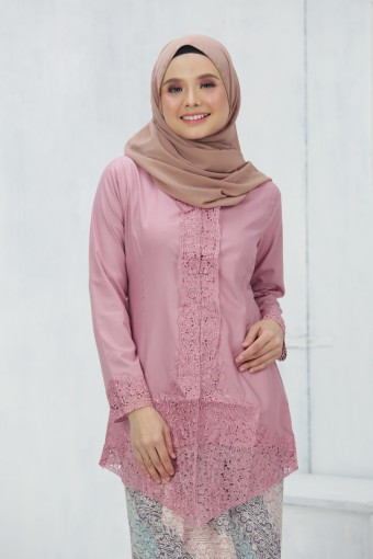 Kebaya Sulam Luxe - ROSE PINK (TOP ONLY)