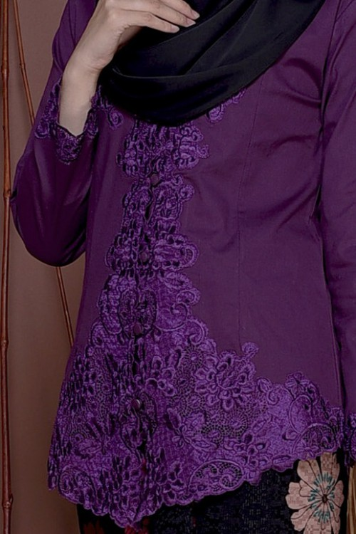 Kebaya Sulam Seera - DARK PURPLE (TOP ONLY)