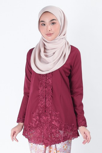 Kebaya Mariani Maroon (Top Only)
