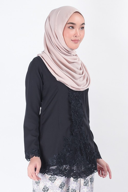Kebaya Mariani Black (Top Only)