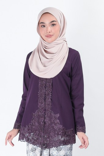Kebaya Mariani Dark Purple (Top Only)
