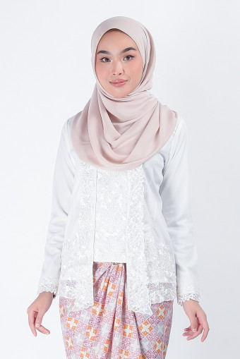 Kebaya Dayyan White (Top Only)
