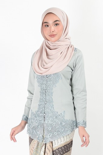Kebaya Darmani Greyish Blue (Top Only)