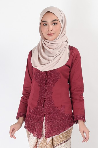 Kebaya Darmani Maroon (Top Only)