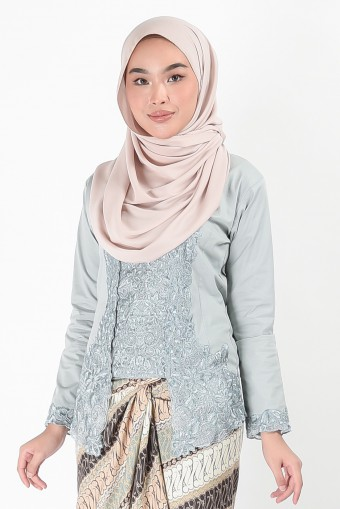 Kebaya Mehrani Greyish Blue (Top Only)