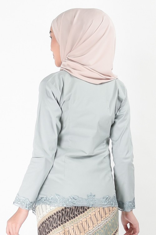 (AFTER RAYA) Kebaya Mehrani Greyish Blue (Top Only)