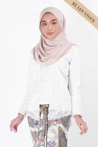Kebaya Saharaz White (Top Only)