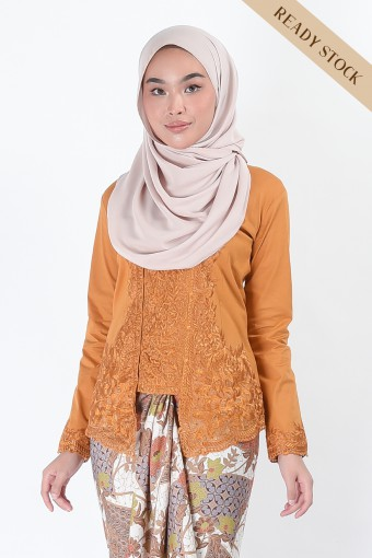 Kebaya Saharaz Mustard (Top Only)