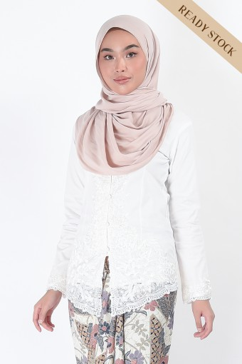 (AFTER RAYA) Kebaya Nismara White (Top Only)