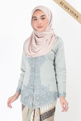 (AFTER RAYA) Kebaya Darmani Greyish Blue (Top Only)