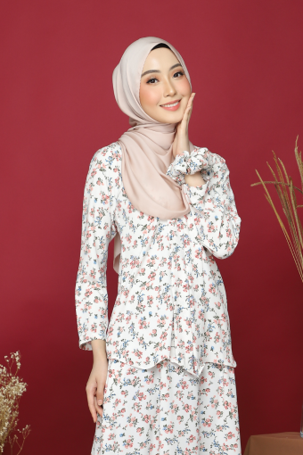 Kebaya Andaman - White Coral (Top Only)
