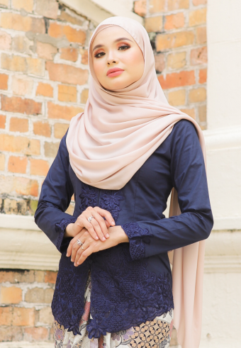 Kebaya Mahsuri - Darkblue (Top Only)