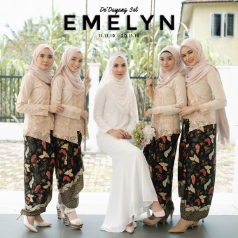 KBK BEIGE X WARDA ORANGE (EMELYN)