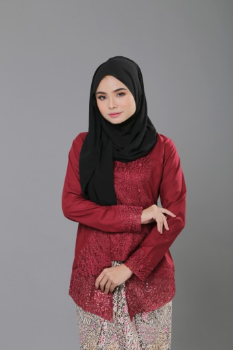 Kutu Baru Luxe - MAROON (TOP ONLY)