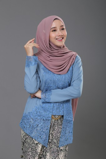 Kutu Baru Luxe - DUSTY BLUE (TOP ONLY)