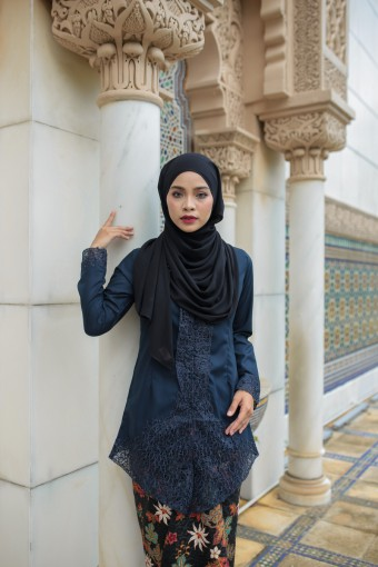 Kebaya Sulam Luxe - DARK BLUE (TOP ONLY)