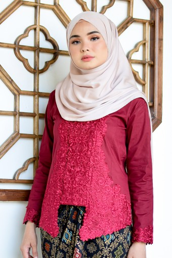 Kutu Baru Meili - MAROON (TOP ONLY)