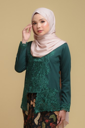 Kutu Baru Qaleeda - EMERALD GREEN (TOP ONLY)