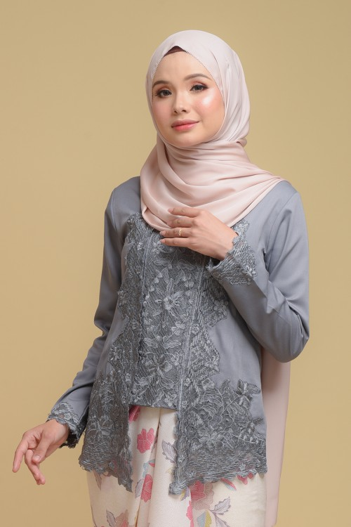 Kutu Baru Qaleeda - DARK GREY (TOP ONLY)