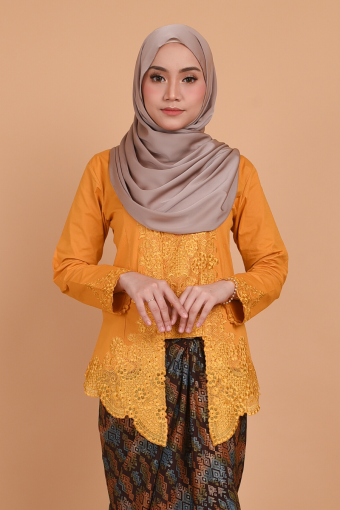 Kebaya Kesuma - Mustard (Top only)
