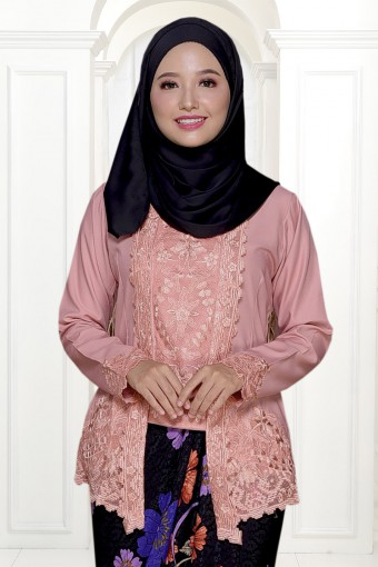 Kutu Baru Qaleeda - PEACH PINK (TOP ONLY)