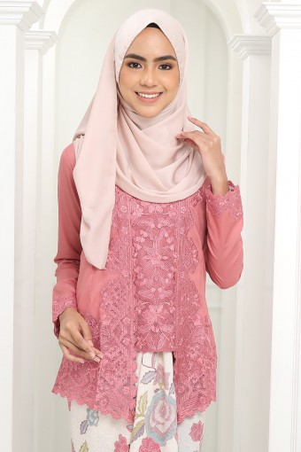 Kutu Baru Qaleeda - PINK SALMON (TOP ONLY)
