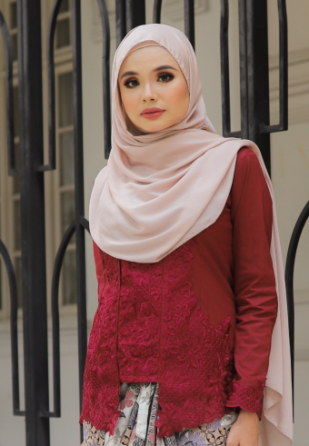 Kebaya Mustika - MAROON (TOP ONLY)