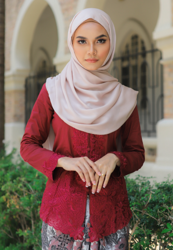 Kebaya Mahsuri - MAROON (TOP ONLY)