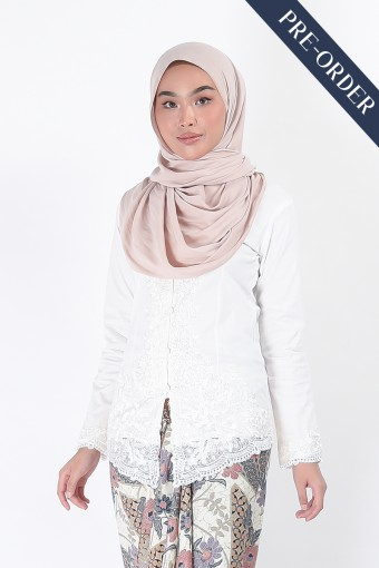 (PRE-ORDER) Kebaya Nismara White (Top Only)