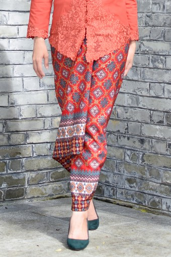 Pario Songket Mei Mei - RED