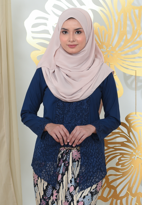 Kebaya Puspawangi - Dark Blue (Top Only)