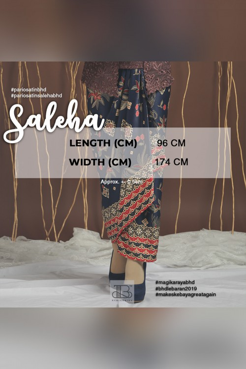 Pario Satin Saleha - DARK BLUE