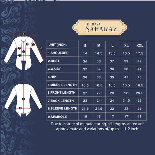 (AFTER RAYA) Kebaya Saharaz White (Top Only)