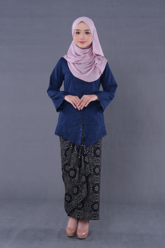 Kebaya Teja Blueberry & Pario Kejora White