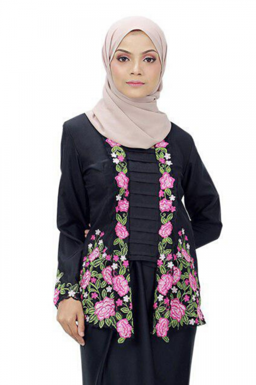 Kebaya Felia - BLACK (TOP ONLY)