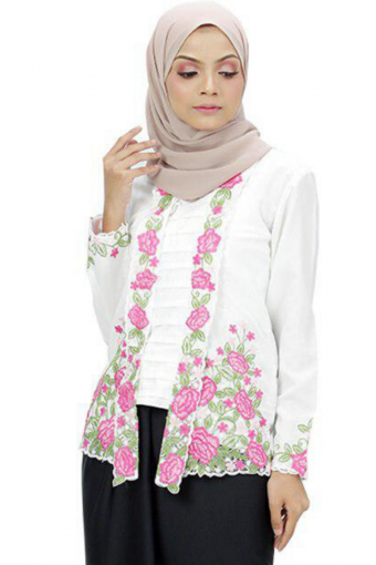 Kebaya Felia - WHITE (TOP ONLY)