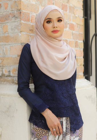 Kebaya Mustika - DARKBLUE (TOP ONLY)