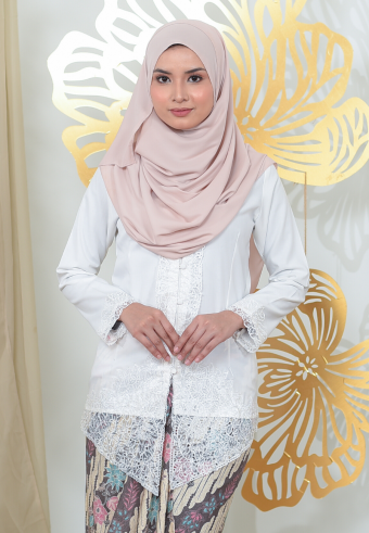 Kebaya Mayangsari - WHITE (TOP ONLY)