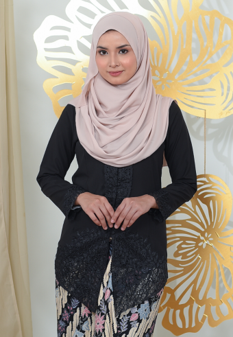 Kebaya Mayangsari - BLACK (TOP ONLY)