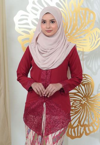 Kebaya Mayangsari - MAROON (TOP ONLY)