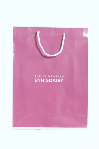 Byhisdaisy Paper Bag- Pink
