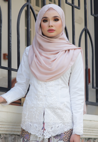 Kebaya Mahsuri - WHITE (TOP ONLY)