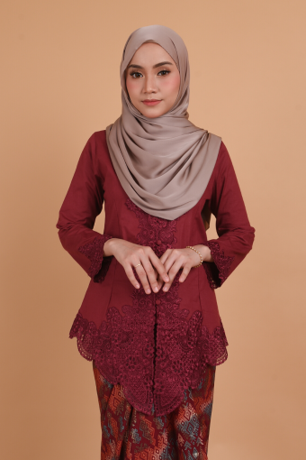Kebaya Widuri - Burgundy (Top only)