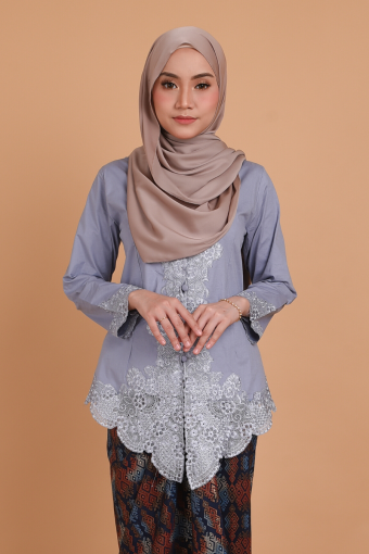 Kebaya Widuri - Lilac Blue (Top only)