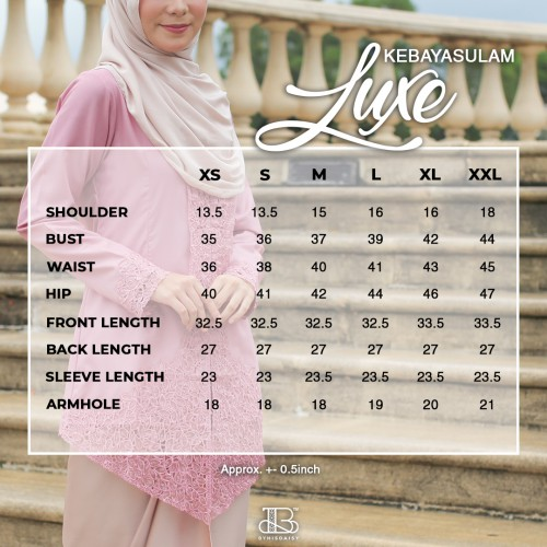Kebaya Sulam Luxe - VIOLET (TOP ONLY)