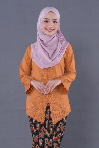 Kebaya Mulan 2.0 - Mustard (Top Only)