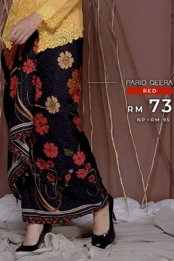 Pario Songket Qeera - RED