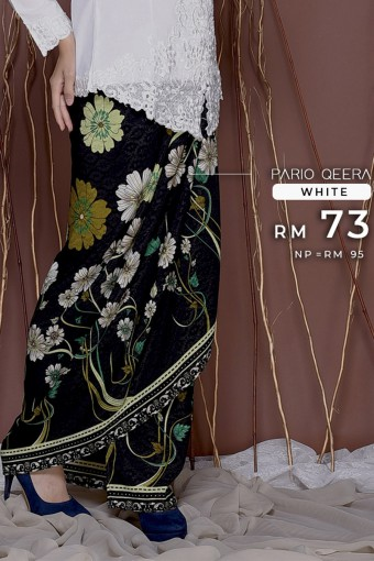 Pario Songket Qeera - WHITE