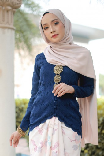 Kebaya Sephia - DARKBLUE (TOP ONLY)